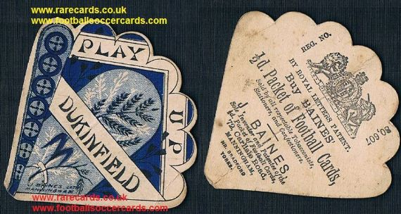 1890s Dukinfield CC or RFC fan-shape Baines card